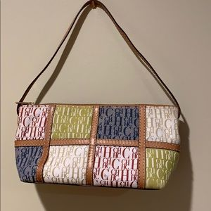 CH Carolina Herrera Leather Trimmed Logo Bag
